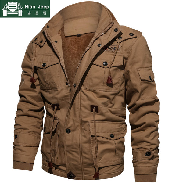 25df830bb8c78 Hot Sale Winter Military Thick Jacket Men Warm Hooded Coats Thermal Thick  Outerwear Male Plus Size