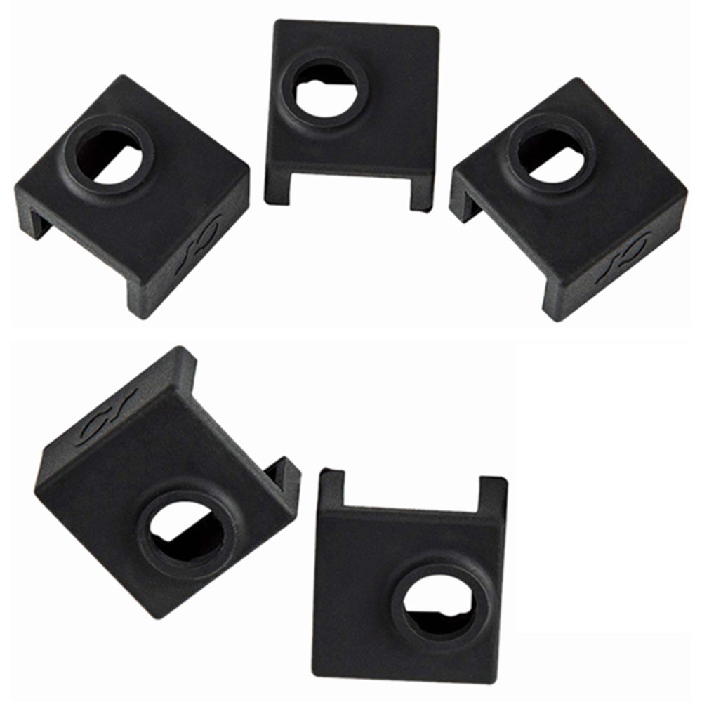 Creality 5-Pack 3D Printer Heater Block Silicone Cover Thermal Protection Silicon Socks MK7 MK8 MK9 Hotend