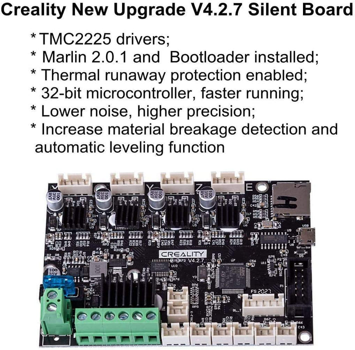 Creality V4.2.7 Silent Motherboard with TMC2225 Stepper Motor Drive for Ender-3 Pro