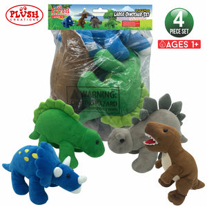 "Plush 10"" Dinosaurs (set of 4)"
