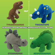 "Load image into Gallery viewer, Plush 10"" Dinosaurs (set of 4)"