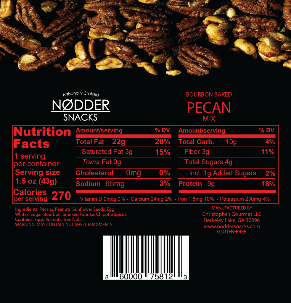 Bourbon Baked Pecan Mix - Snack Size