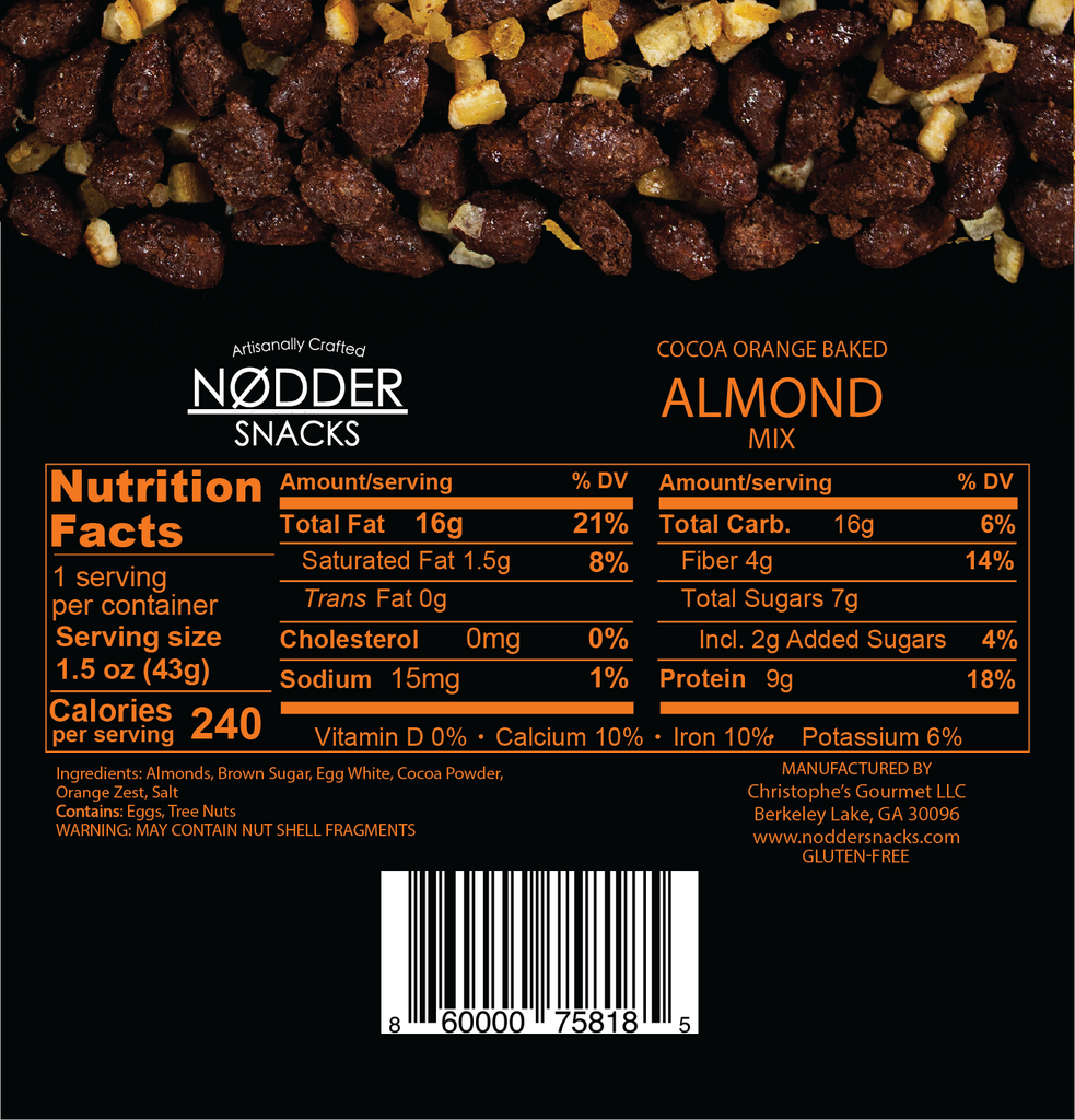 Cocoa Orange Baked Almond Mix - Snack Size