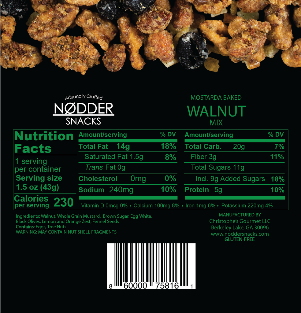 Mostarda Baked Walnut Mix - Snack Size