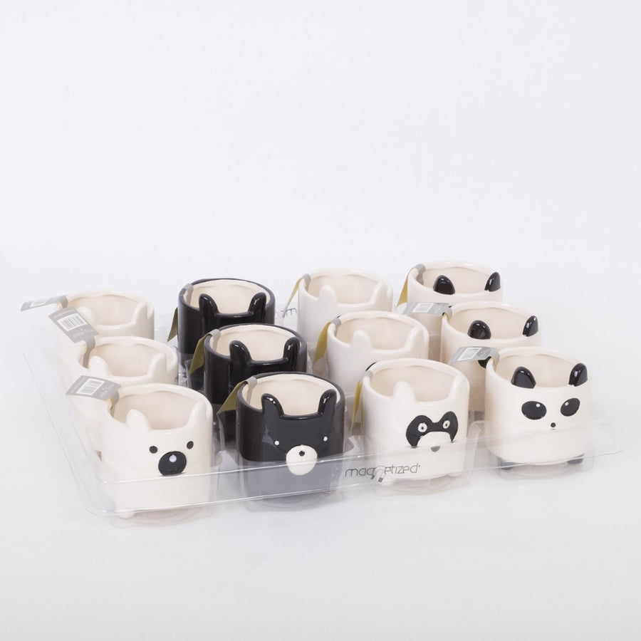 Magnetic Ceramic animal plant pots set of 4 - Cambridge Bee