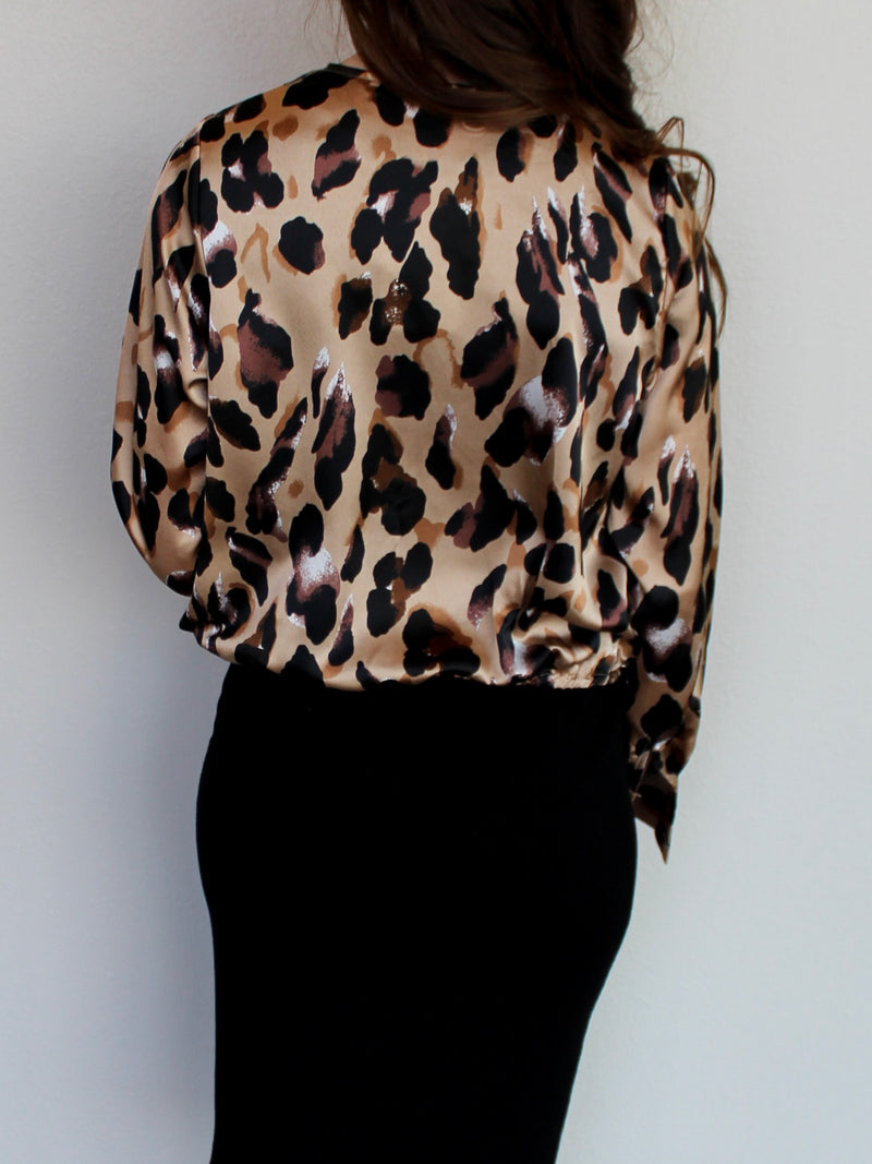 Leopard Silk Top - Hazlee