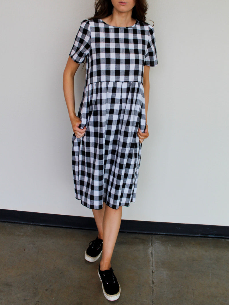 Gingham Dress - Hazlee