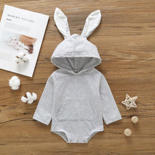 Load image into Gallery viewer, Pudcoco US Stock New Rabbit Ear Infant Baby Boys Girls Fall Clothes Long Sleeve Hooded Jumpsuit Fashion Autumn Clothes Outfit