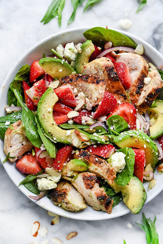 Strawberry Lemon Balsamic Salad