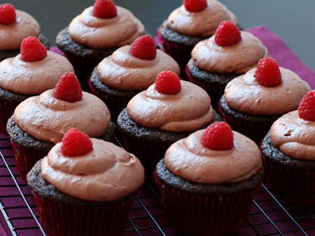 Chocolate Raspberry Balsamic Vinegar Cupcakes