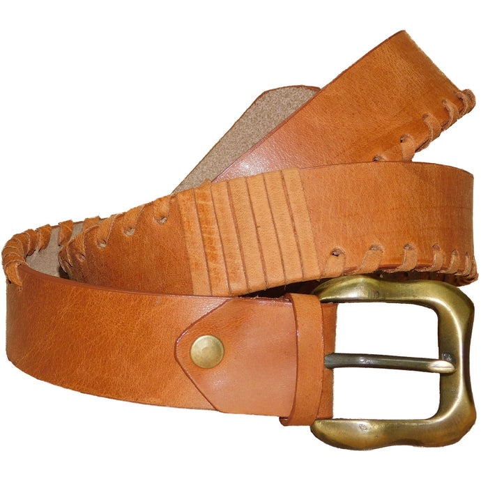 Leather Belt 4cm - Tampa2 - Douroukas Leather Goods