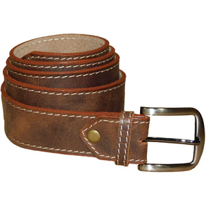 Leather Belt 3,5cm - Brown - Douroukas Leather Goods