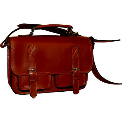 Small Meassenger Leather Bag - Douroukas Leather Goods