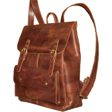 Leather Travel Backpack - Douroukas Leather Goods