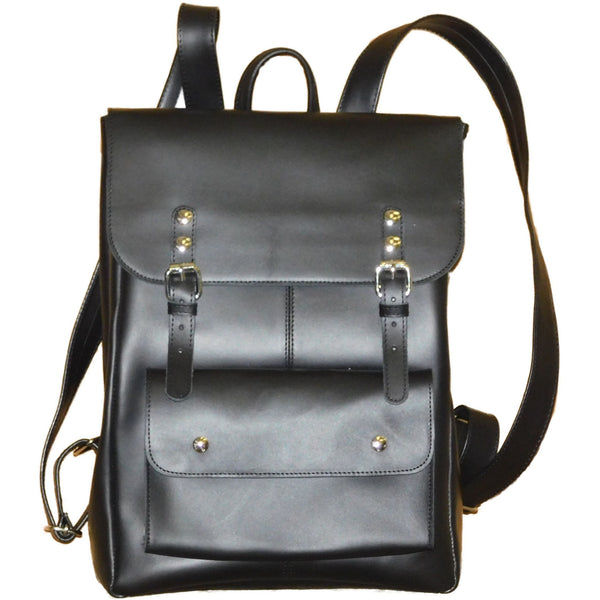Leather Travel Backpack-Black - Douroukas Leather Goods