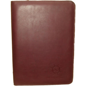Leather Folder A4 With Zip - Douroukas Leather Goods