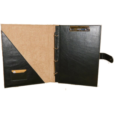 Leather Ring Binder With Embossing - Douroukas Leather Goods