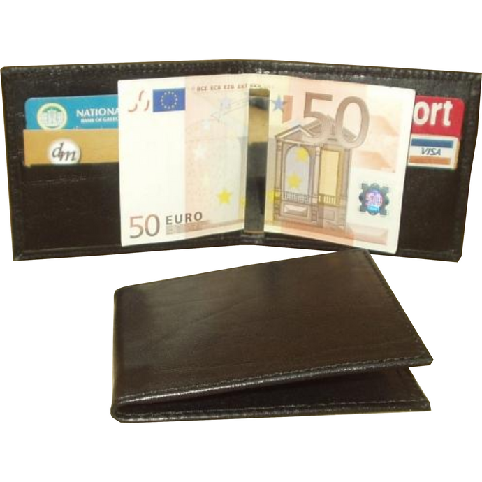 Leather Money Clip Wallet - Douroukas Leather Goods