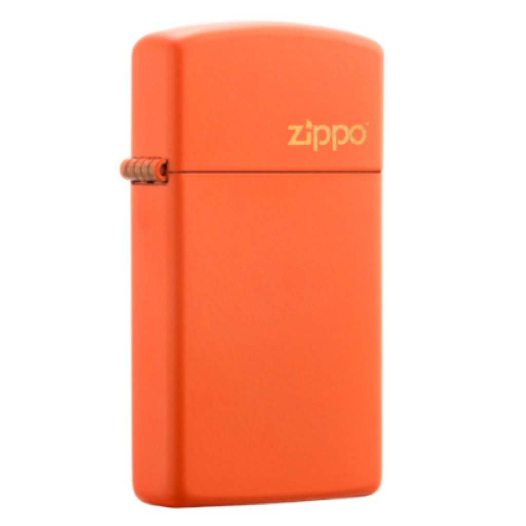 Slim Orange Matte with Zippo Logo
