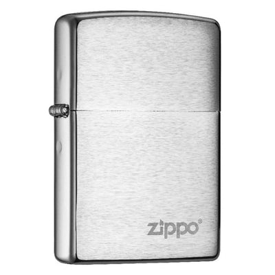 Classic Brushed Chrome with Zippo Logo