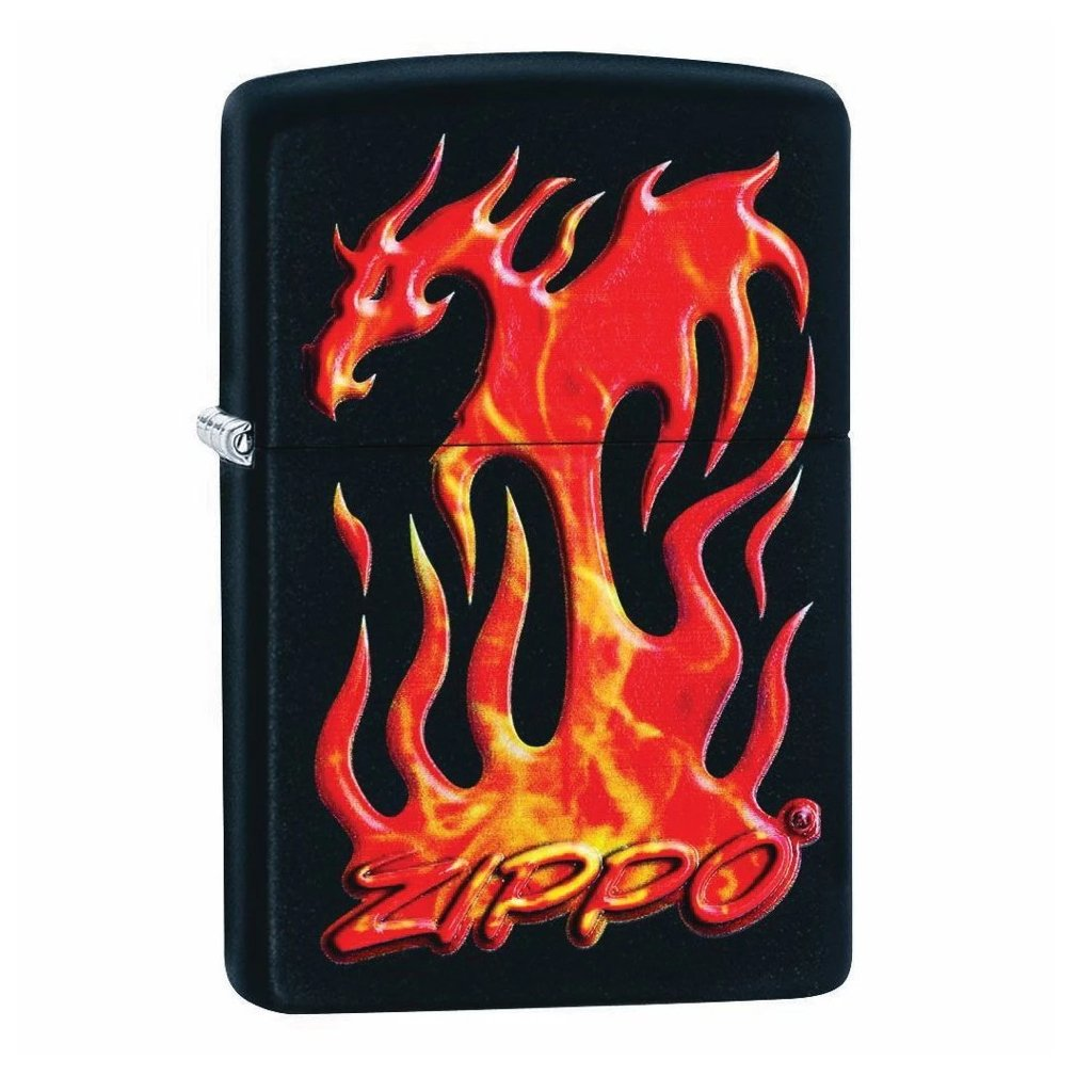 Zippo Flaming Dragon Design