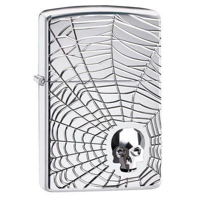Spider Web Skull Design