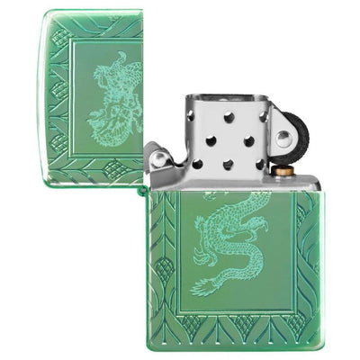 Armor® High Polish Green Elegant Dragon