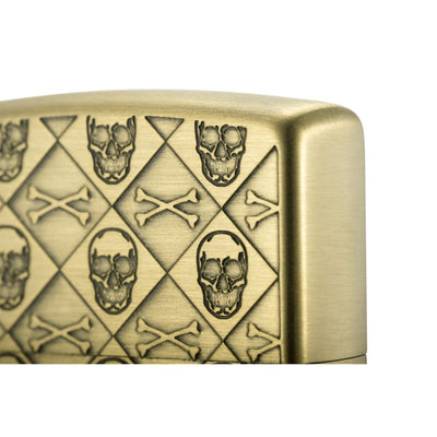 Skull monogram Antique Brass