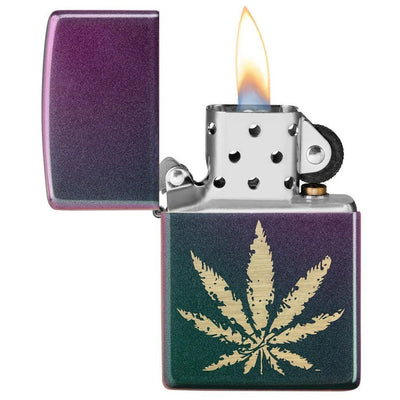 Iridescent Marijuana Leaf