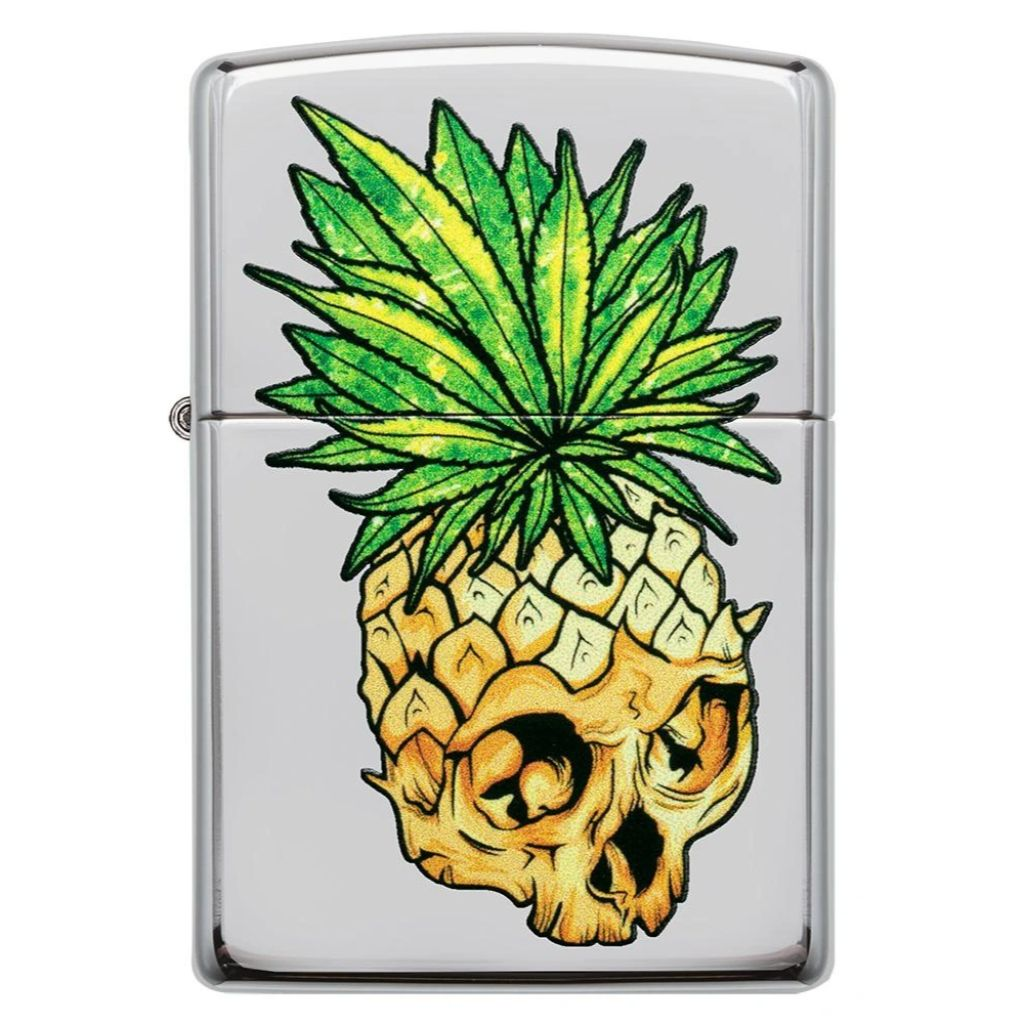 Leaf Skull Pineapple Design