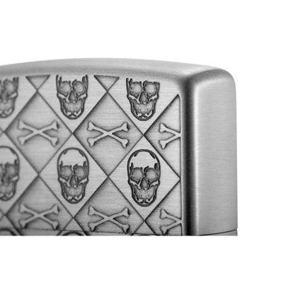 Skull monogram Antique Silver