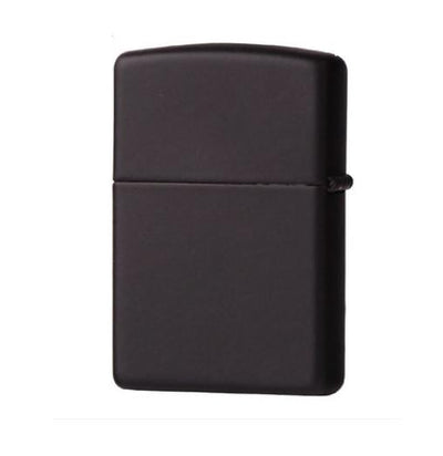 Black Matte Pipe Lighter With Pipe Logo