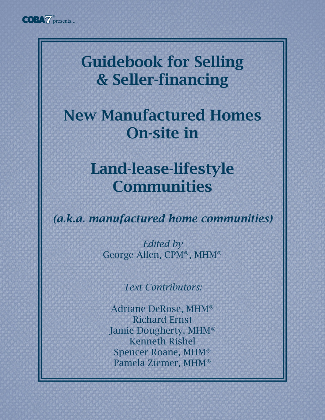 GUIDEBOOK FOR SELLING MANUFACTURED HOMES
