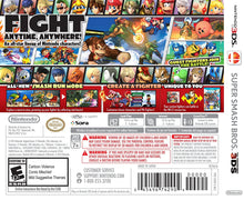 Load image into Gallery viewer, Super Smash Bros. - [Game Cartridge & Case] Nintendo 3DS 2014