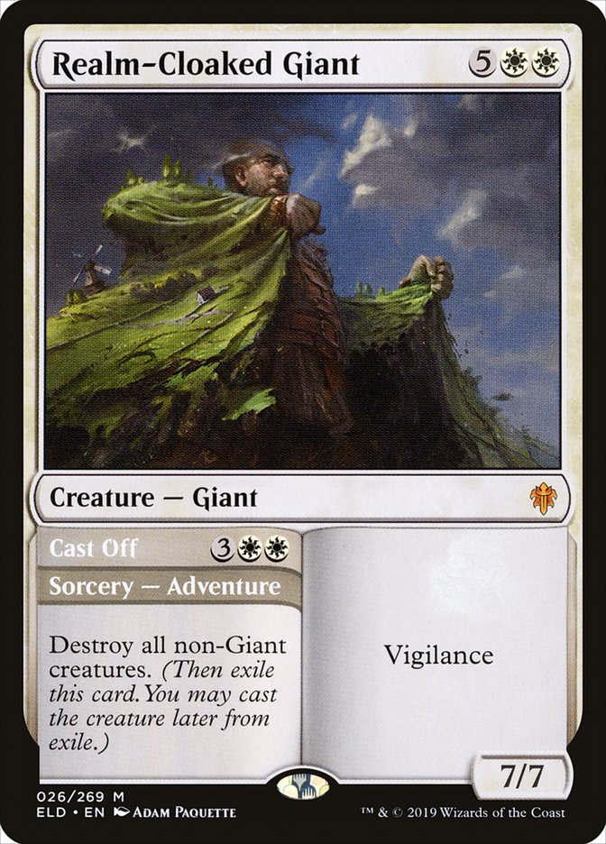 Realm-Cloaked Giant // Cast Off - Throne of Eldraine (ELD)