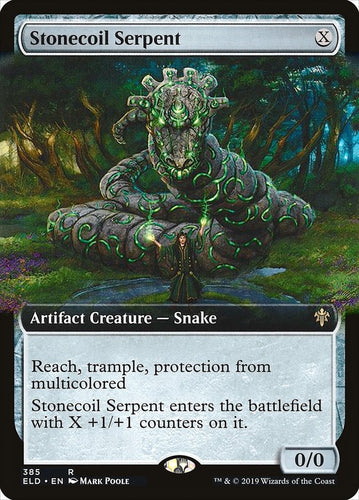 Stonecoil Serpent - [Extended Art] Throne of Eldraine
