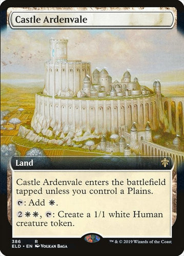 Castle Ardenvale - [FOIL, Extended Art] Throne of Eldraine