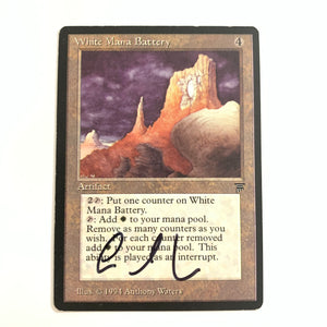 White Mana Battery - [Signed by Anthony Waters] Legends