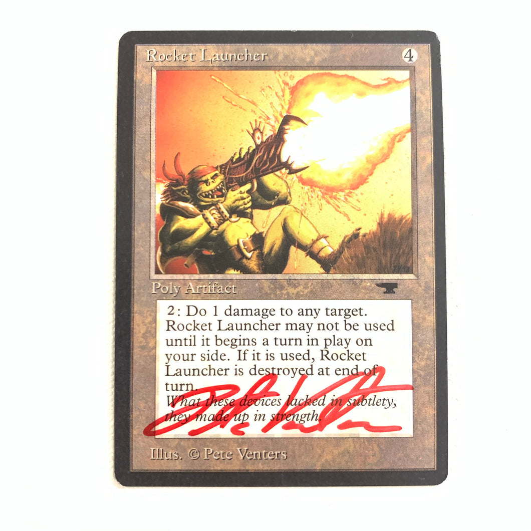 Rocket Launcher - [Signed by Pete Venters] Antiquities