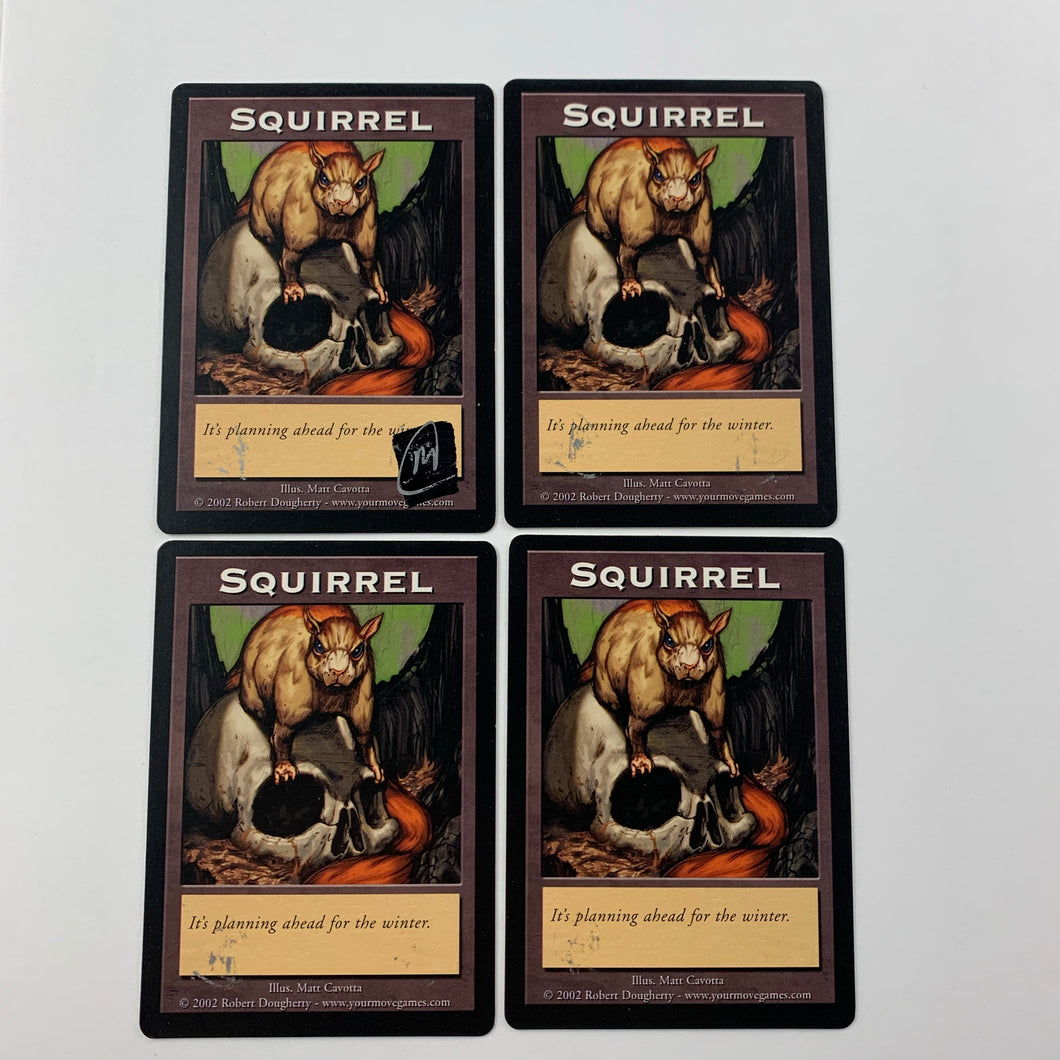4x Squirrel / Bear - [Signed by Matt Cavotta] Token