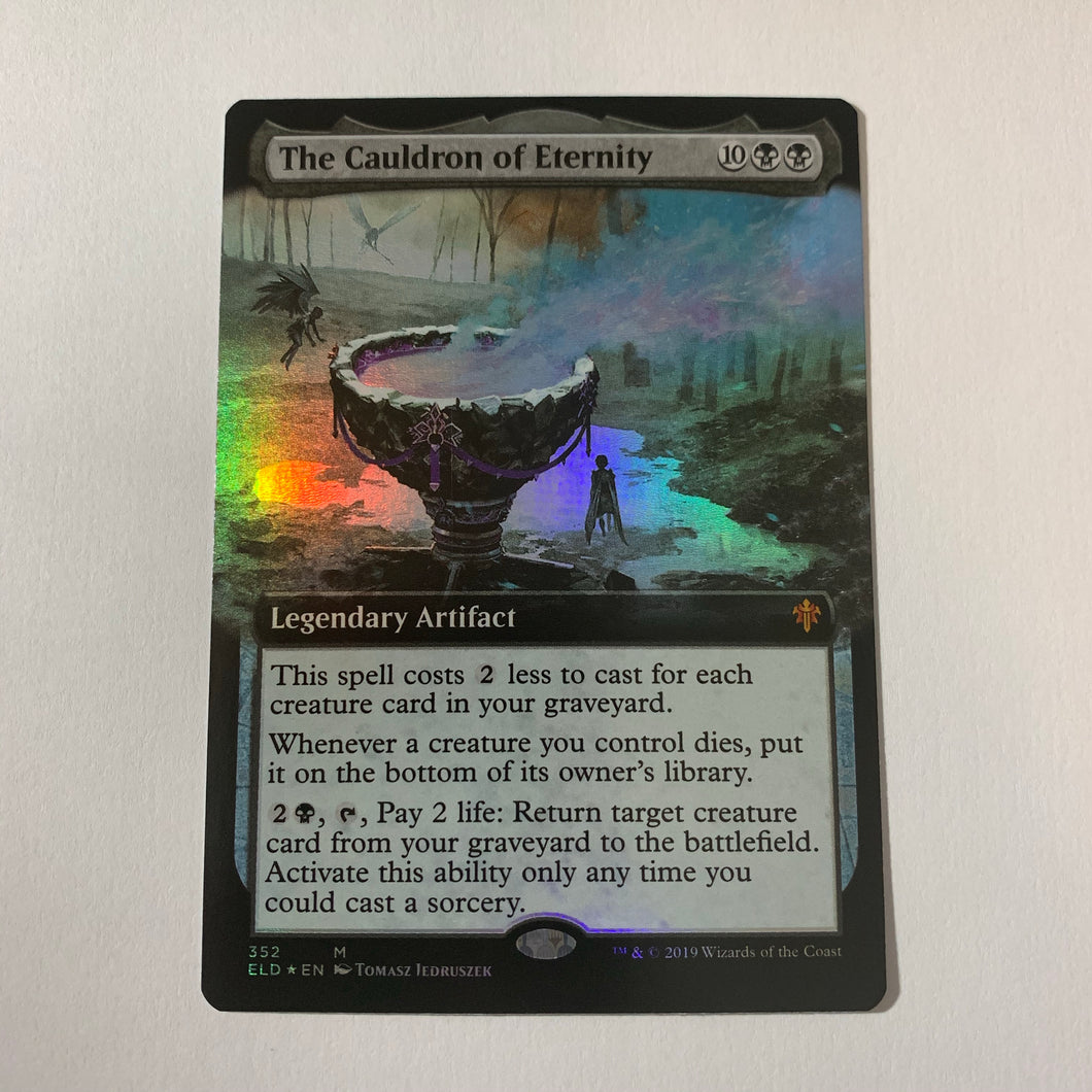 The Cauldron of Eternity - [FOIL. Extended Art] Throne of Eldraine