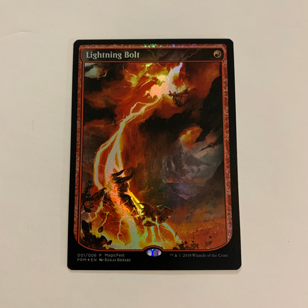 Lightning Bolt - [FOIL, Full Art] Magic Fest Promo
