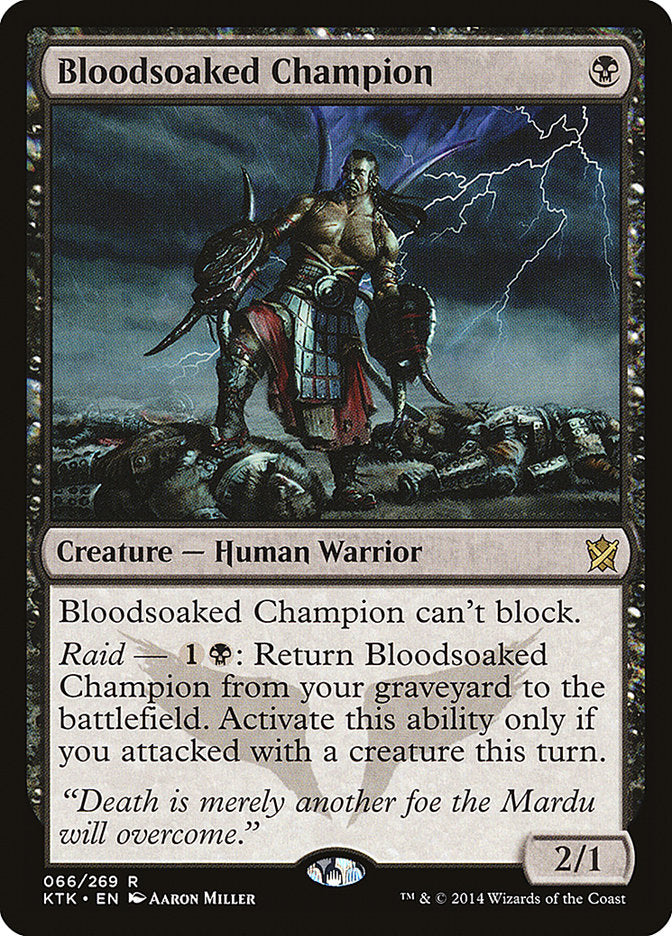 Bloodsoaked Champion - Khans of Tarkir
