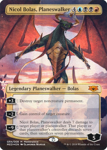 Nicol Bolas, Planeswalker - [FOIL, Borderless] Mythic Edition: Guilds of Ravnica