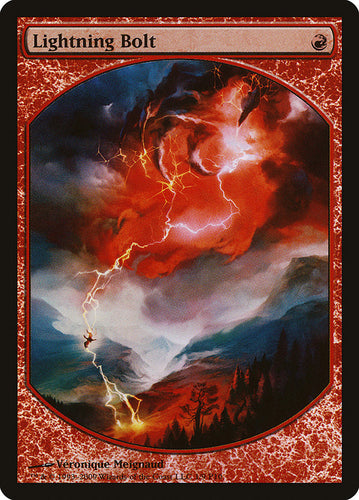 Lightning Bolt - [FOIL, Full Art] Magic Player Rewards 2010 (LP)