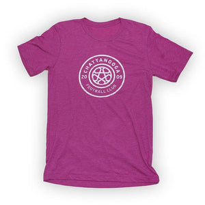 Antiqued Logo T-Shirt (Berry Tri-Blend)
