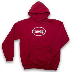 Noog Oval Pullover Hoodie - Cardinal Red