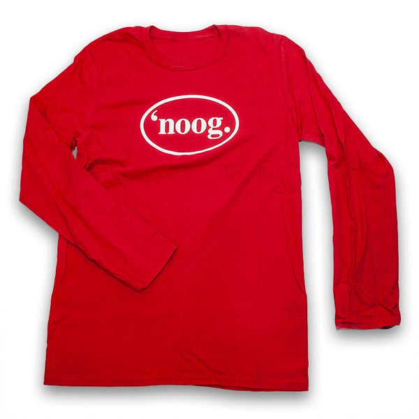 Noog Oval Long Sleeve - Cherry Red