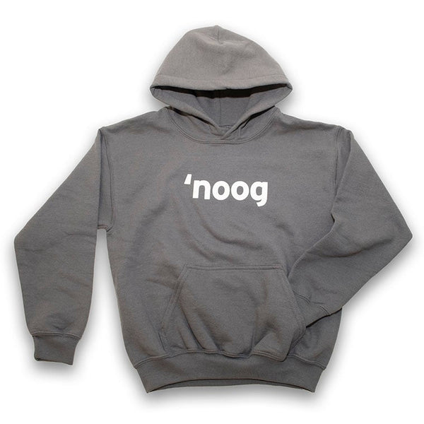 SALE - Noog Block Lettering Pullover Hoodie - Gray - Youth