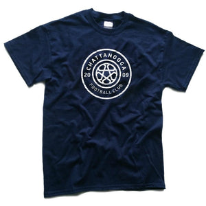 Antiqued Logo T-shirt (Navy)